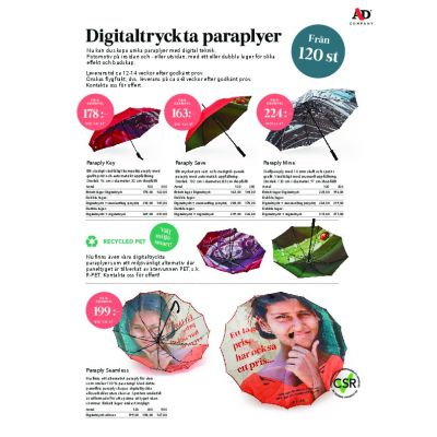Digitaltryckta paraplyer