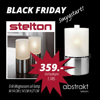 BLACK FRIDAY - Stelton oil lamp