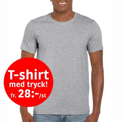 Budget T-shirt med tryck!