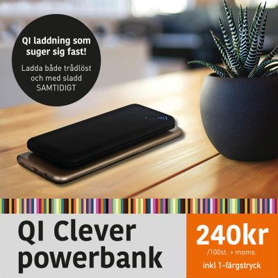 Qi clever powerbank